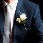 Groomsman's Corsage of White Roses