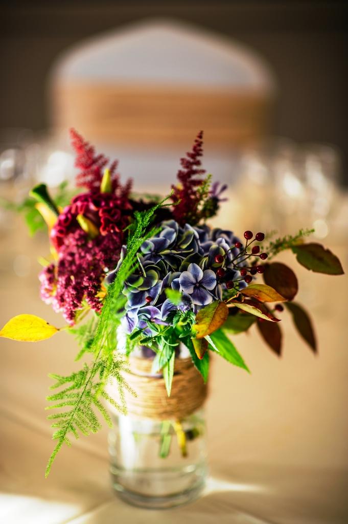 Flower arrangement for side table at St. Stephen's Green Hibernian Club Dublin