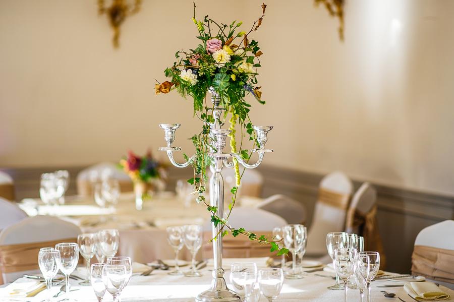 Table centre flower arrangement at St. Stephen's Green Hibernian Club