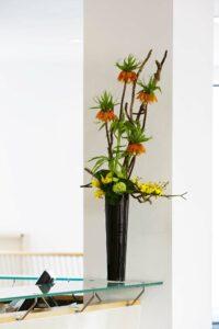 Flowers for a Dublin office reception area