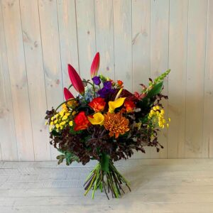 Autumn Flower Bouquet Hand Tied for delivery acfross Ireland