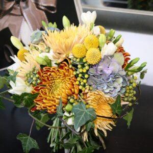 Brides flower bouquet using Autumn theme