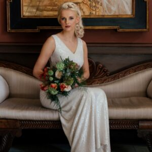 From the gallery of wedding flower images this bridal bouquet with tulips as the feature flower used