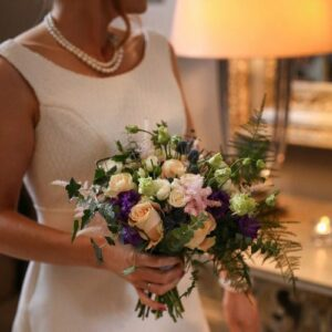 Pretty bridal bouquet taken at Dublin wedding venue