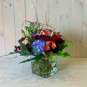 A beautiful cottage garden style flower arangement