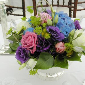 Floral table centre from Wicklow hotel wedding venue