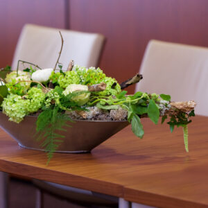 Boardroom table flower arrangement - image from flowers for events gallery