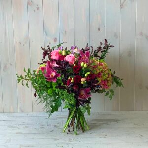 Pink Orchids and Rose bouquet. Lovely gift with Dublin and nationwide delivery service available to m