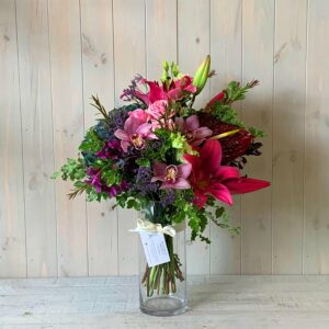 scented lilies with orchid flowers for delivery in Dublin