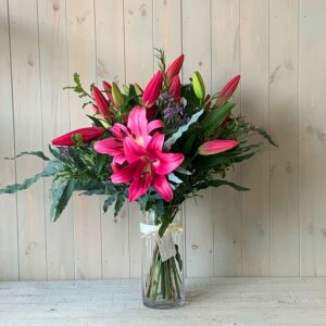 Scented Oriental Lily Flower Bouquet. A beautiful gift with flower deliver available in Dublin and across Ireland.
