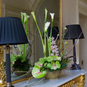 side table flower arrangement - image from flowers for events gallery