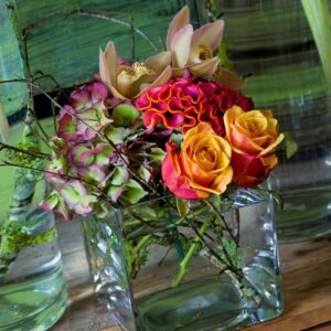 coffee table flower arrangement - image from flowers for events gallery
