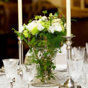 From our collection of wedding flowers pictures a table centre designed for a wedding at a Dublin hotel venue