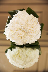 White hydrangea brides flower bouquet