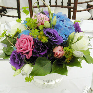 round table centre from flowers for events