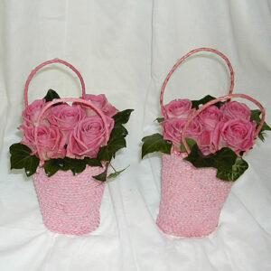 flower girls handbags with pink flowers