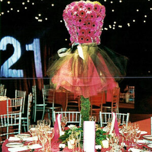21st birthday party flowers - - image from flowers for events gallery