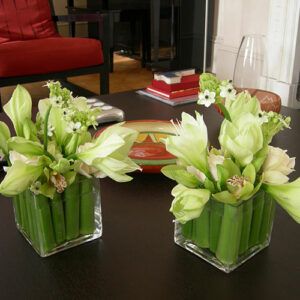 Twin flower arrangements - image from flowers for events gallery