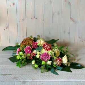 Funeral tributes for delivery in Dublin Funeral Spray in pinks and Creams