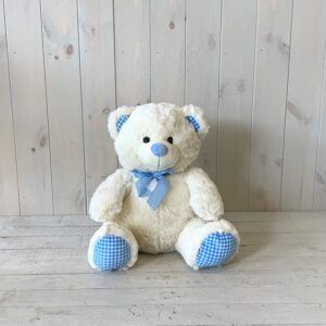 Blue Teddy Bear - a lovely gift for new baby boy