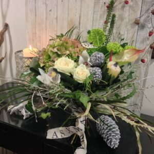 Christmas Gift Bouquet in Whites for delivery in Dublin and Ireland