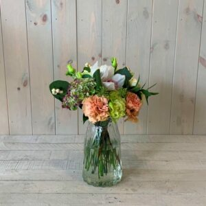 Small Gift Bouquets for Delivery in Dublin - Petite Flower Bouquet in Peach and Creams