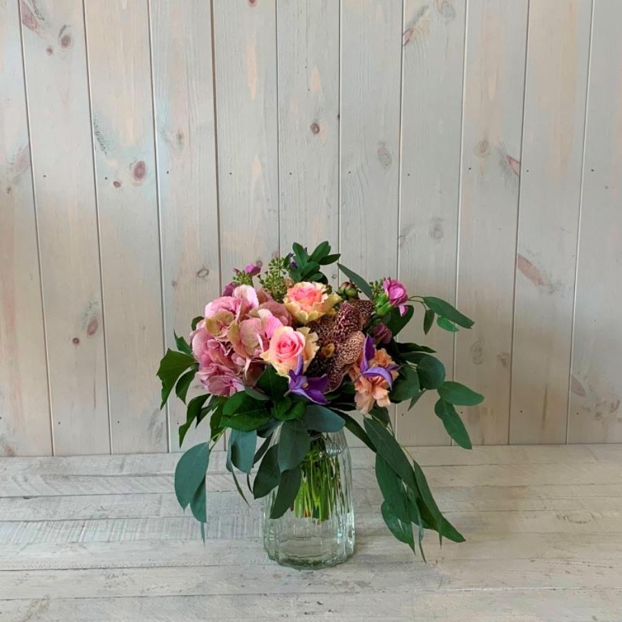 Petite Flower Bouquet in Pinks