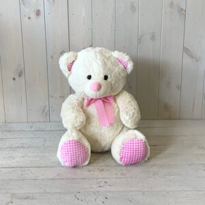 This Pink Teddy Bear is a lovely gift for a new baby girl.