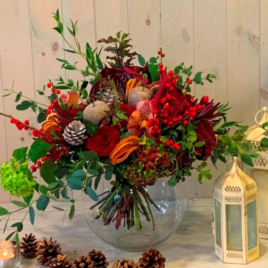 Luxury flower delivery in Dublin and across Ireland Extravagant Christmas Flower Bouquet