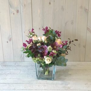 Clematis and Roses Spring Arrangement. Spring flower gifts to send in Dublin city and county
