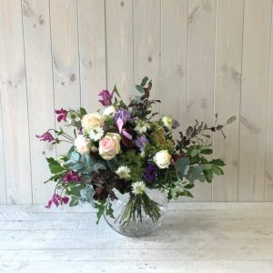 Clematis and Roses Spring Bouquet. Spring flower bouquets to send in Dublin and Ireland