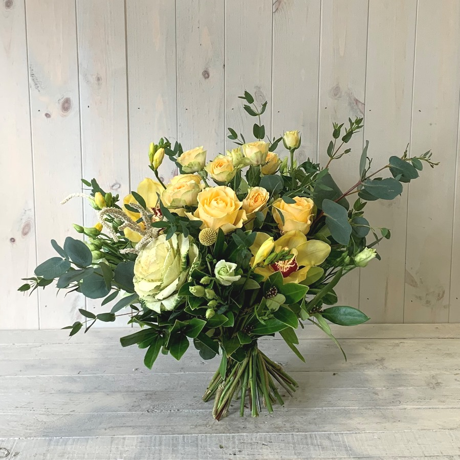 Freesia and Spring Roses Flower Bouquet