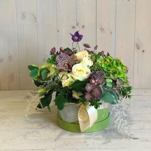Mothers Day Flowers in a pretty hatbox. Order to collect or with gift delivery in Dublin