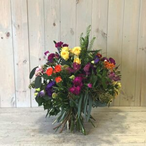 Scented spring flowers - a colourful seasonal flower bouquet for delivery in Dublin and across Ireland