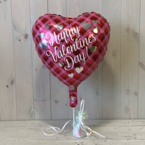 Valentines Balloon for delivery in Dublin accompanied by flower gifts