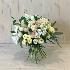 classic creams greens and whites flower bouquet for delivery in Dublin city and county or order online to collect