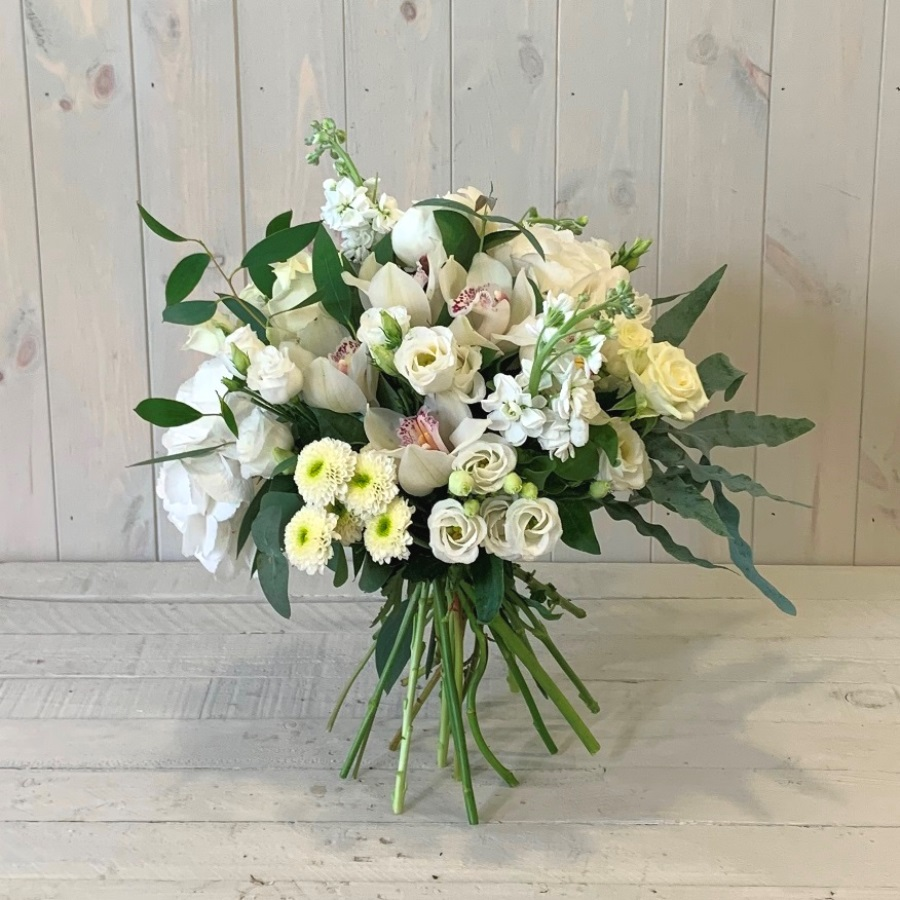 Creams Greens and Whites Bouquet
