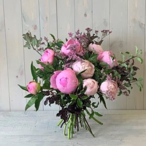 Peony Rose Bouquet in Pinks delivered in Dublin